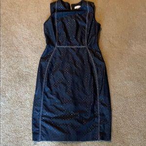 Calvin Klein Dark Jean dress with stitching